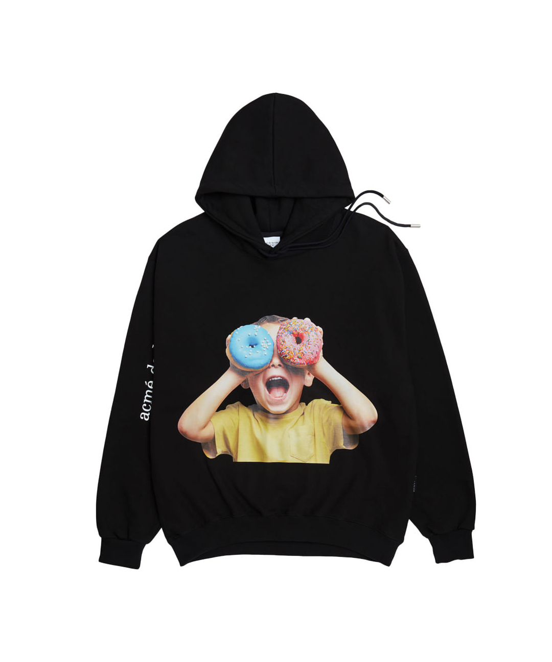 TWICE X ADLV BABY FACE HOODIE BLACK DONUTS 5