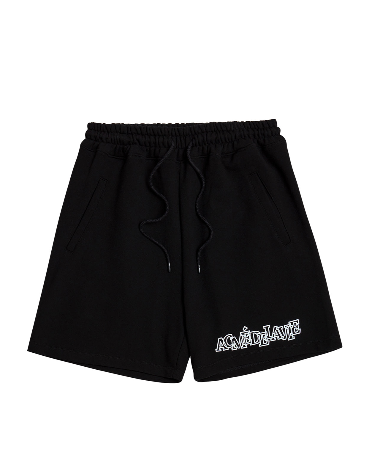 OUTLINE LOGO SHORT PANTS FOR WOMEN BLACK
