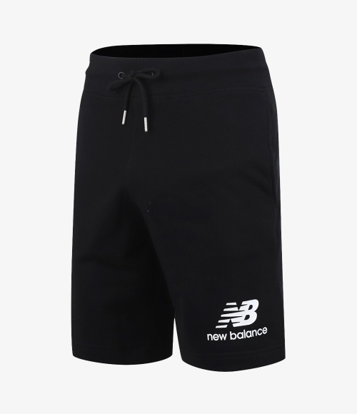 men essential stack logo Shorts (AMS91584_BK)