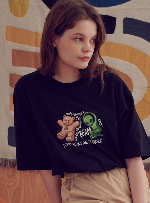 Ambler beam T-shirt (AS733_BLACK)