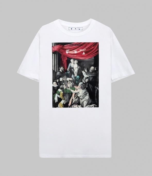 Caravaggio painting slimfit T-shirt (OMAA027E20JER0080110)