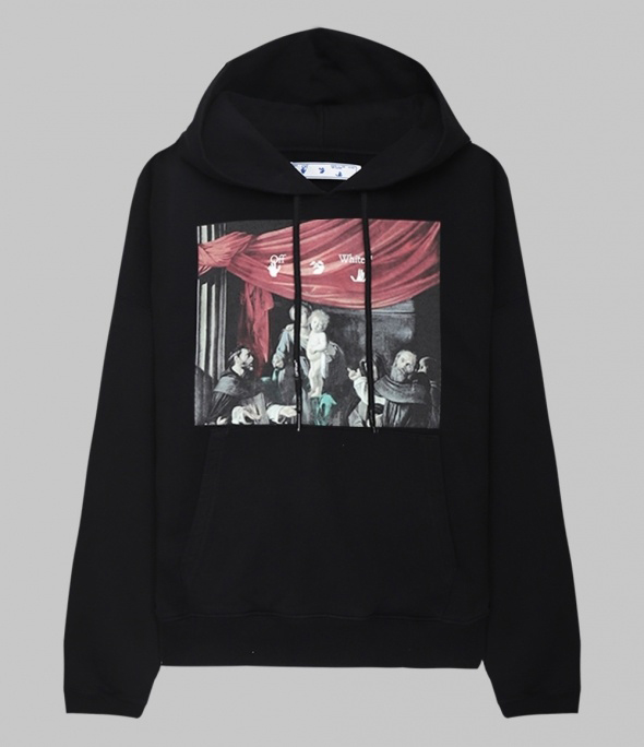 Caravaggio painting Overfit Hoodie (OMBB037E20FLE0031010)