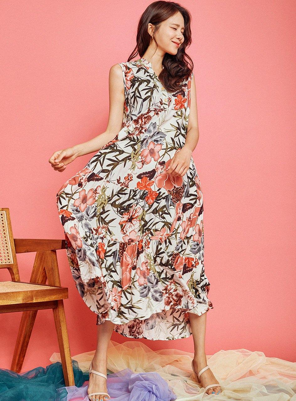 China Flower Dress