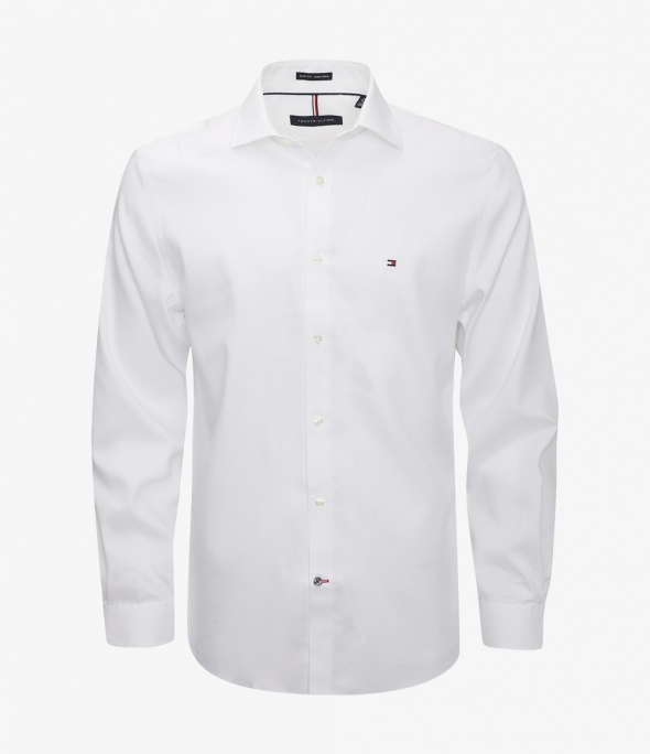 Pinpoint Solid Slim Fit Non Iron-Sa White (24N0314-100)