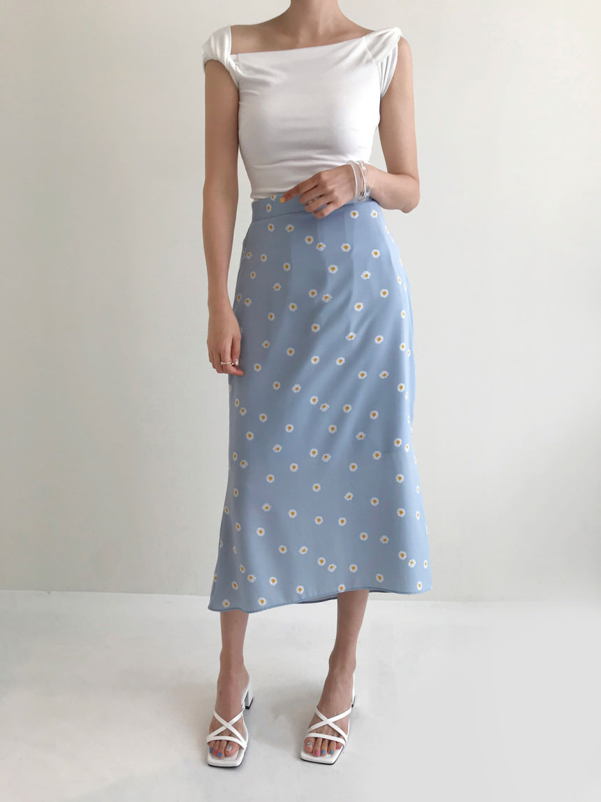 Petit Daisy Unfoot Mermaid Long Skirt