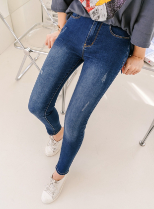 Rickeron Washing-out Denim Skinny