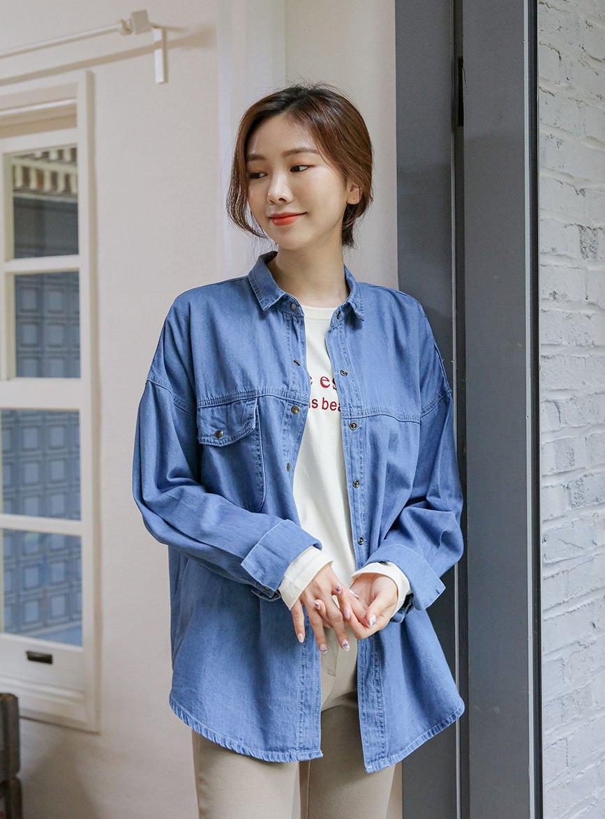 Deanne Soft Pocket Denim Shirt