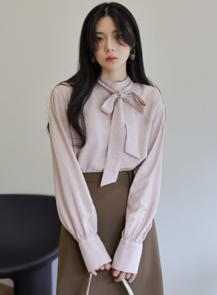 Graceful Half Neck Tie Blouse