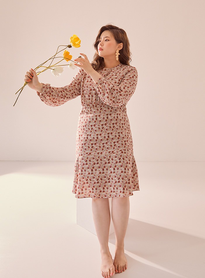 Veloden Half Frill Flower Dress