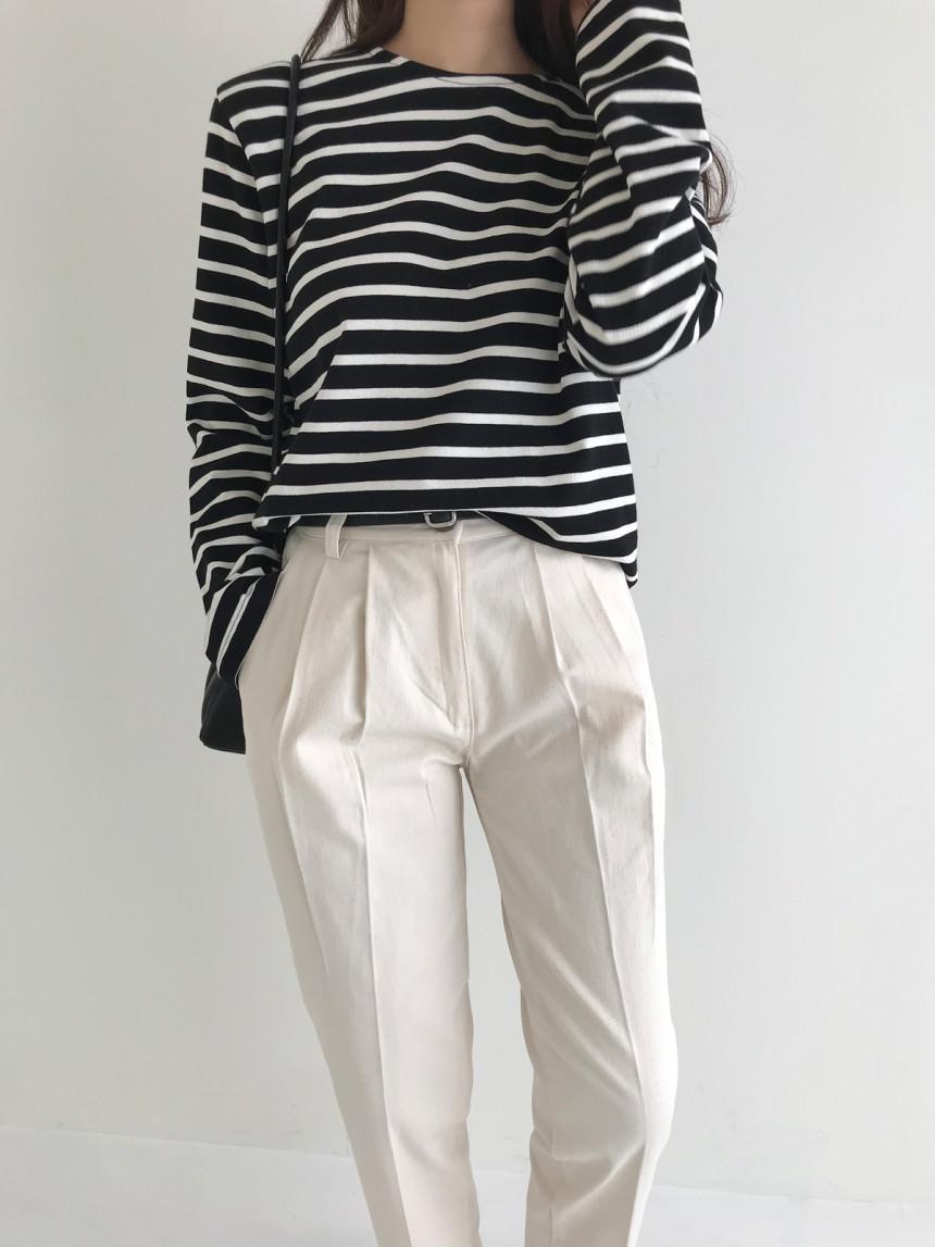 James Tantan Striped Loose-fit T-shirt