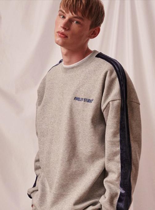 Ambler Velvet Set-up Sweatshirt (AMM816_MELANGE)