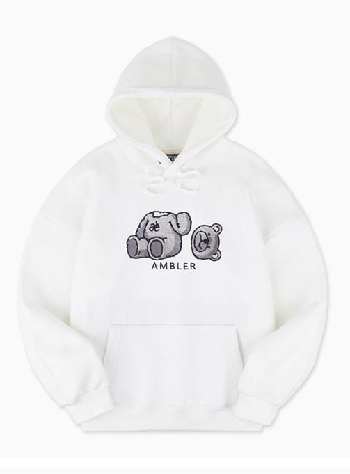 Ambler Oops Bear Hoodie (AHP701_WHITE)