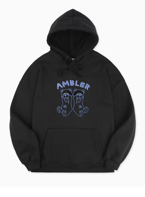 Ambler Cloud Bear Hoodie (AHP703_BLACK)