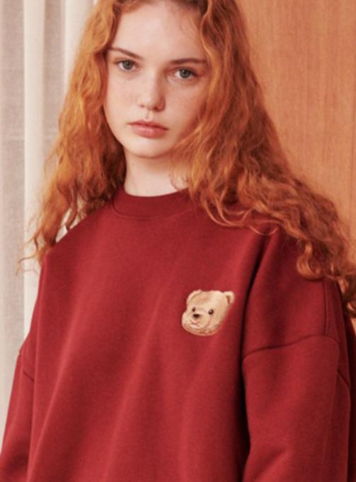 Ambler Big Bear Sweatshirt (AMM805_BURGUNDY)