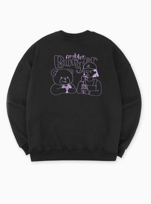 Ambler Burger Sweatshirt (AMM804_BLACK)