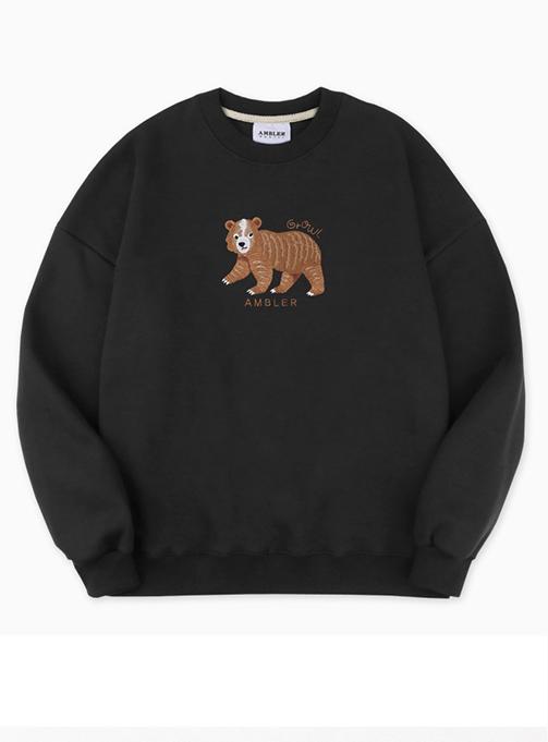 Ambler Coward Bear Sweatshirt (AMM812_BLACK)