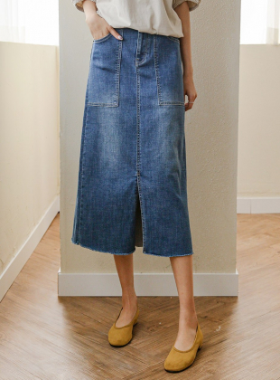 Dooku A-line Denim Skirt