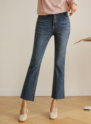 Easy Transform Cat Washing Boot Cut Jeans