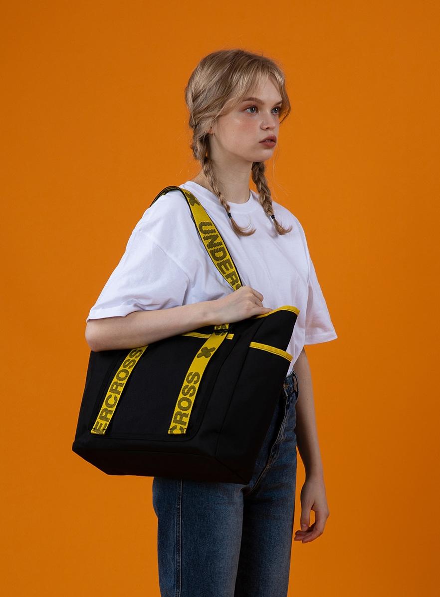 NO BASIC TOTE SHOULDER BAG (BLACK)