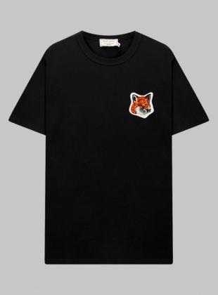 VELVET FOX HEAD PATCH CLASSIC TEE-SHIRT (FU00170KJ0008-BK)