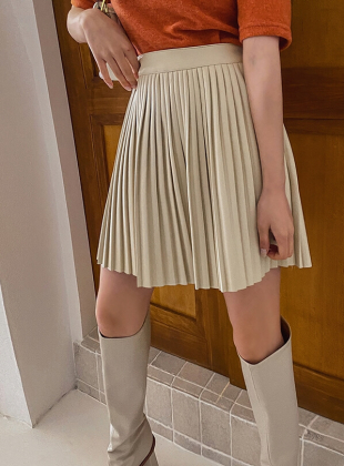 Leather Point Skirt