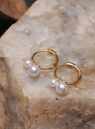 [92.5 Silver] More 2 Pearl Ring Earring