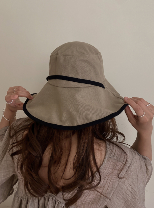 Linen Wide Wire Hat