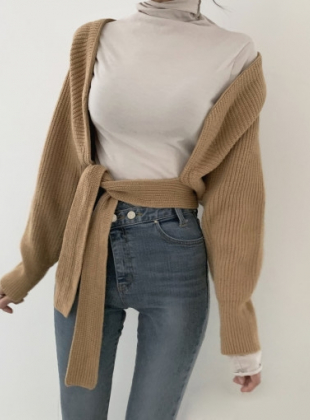 Volumn Strap Cardigan