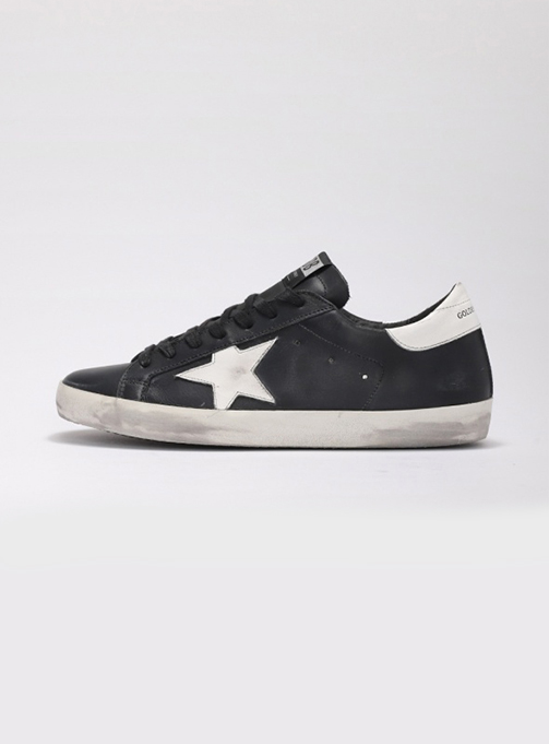 (M) Superstar Black Leather Shiny (GMF00101 F000321 80203)