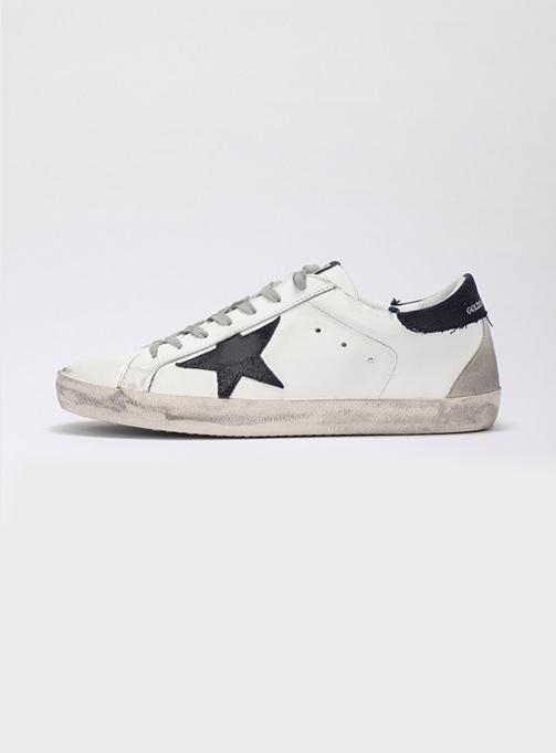 (M) Superstar White Leather Dark Navy Tab Suede (GMF00102 F000609 10341)
