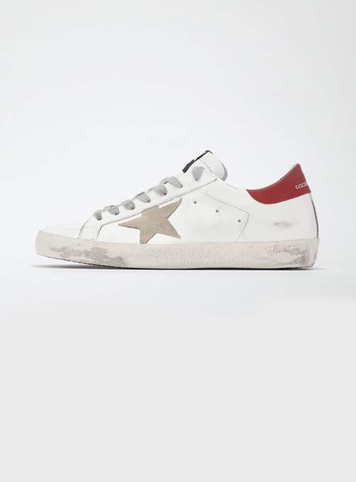 (M) Superstar White Leather cappucino Star (GMF00101 F000365 10288)