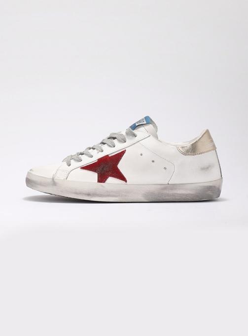 (M) Superstar White Leather Dark Red (GMF00101 F000359 10285)