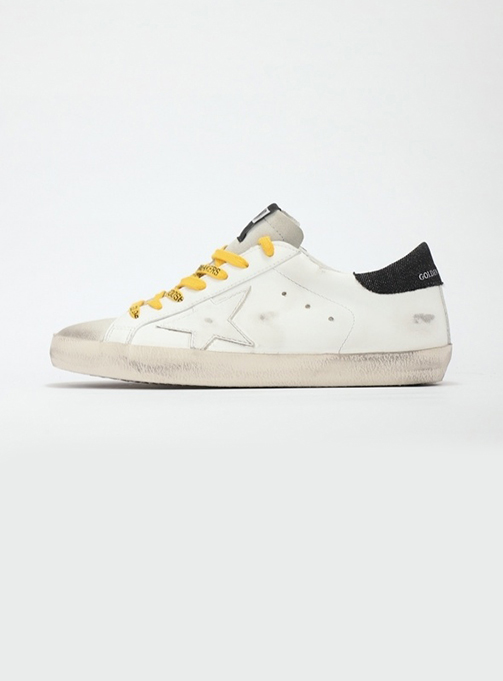 (M) Superstar White Leather Black Tab Ice Star (GMF00101 F000615 10220)