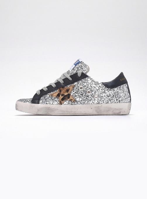 (W) Superstar Silver Glitter Leopart (GWF00101 F000129 70124)
